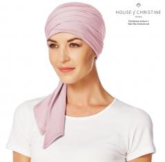 Turban chimio, turban-foulard bambou, bambou Caretech, cocoon, Christine Headwear