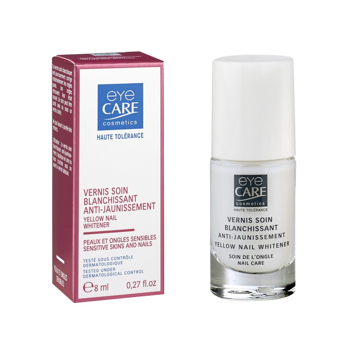 Vernis soin anti-jaunissement, ongles abîmés cancer, Eye Care Cosmetics