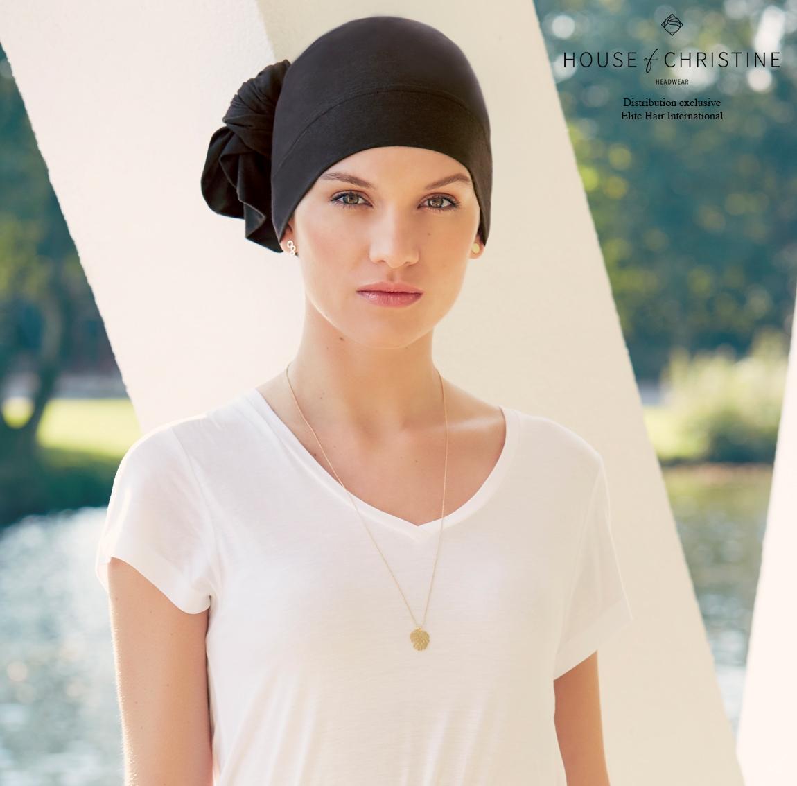 Turban chimio, turban viva tube, anthracite, Christine Headwear