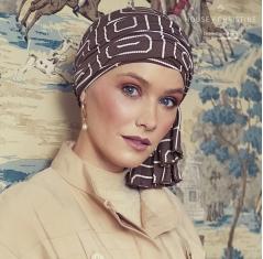 turban chimio, turban avec pans longs pré noués, Elite hair international, bambou caretech, OEKO-TEX®, aventura