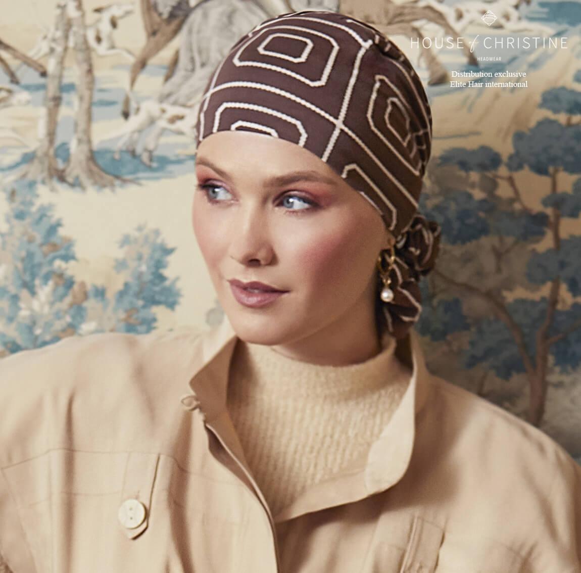 Bonnet chimio easy bambou, aventura, christine headwear