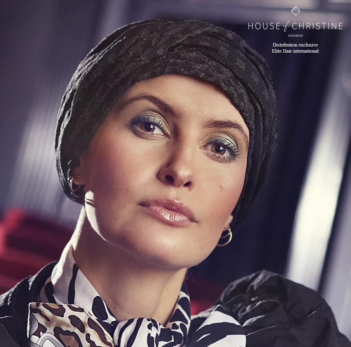 Turban chimio, turban viva twin set, smart, Christine Headwear