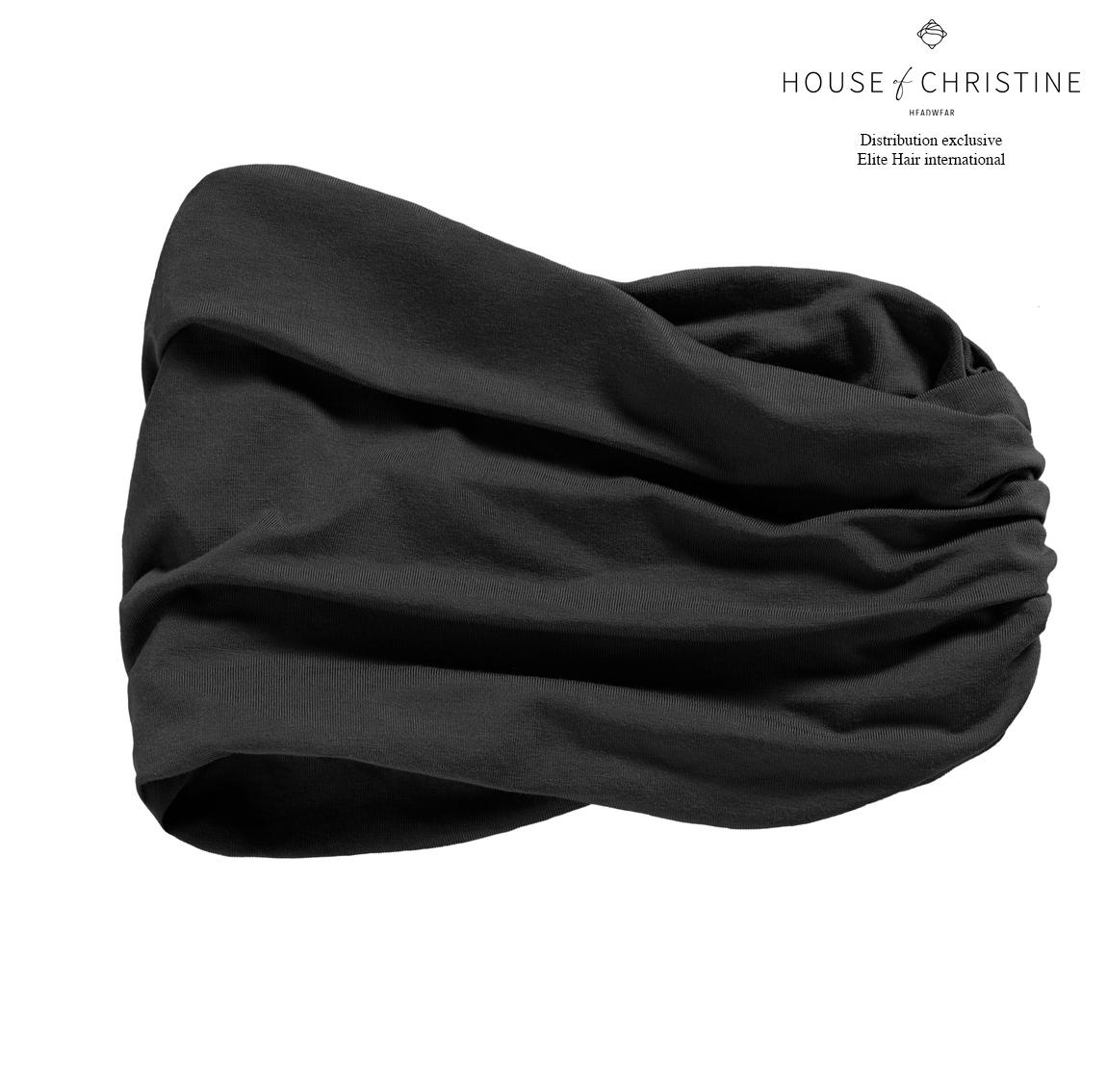 Bandeau chimio karma, noir, christine headwear