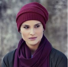 Bonnet chimio, bonnet viva, oslo bordeaux, Christine Headwear