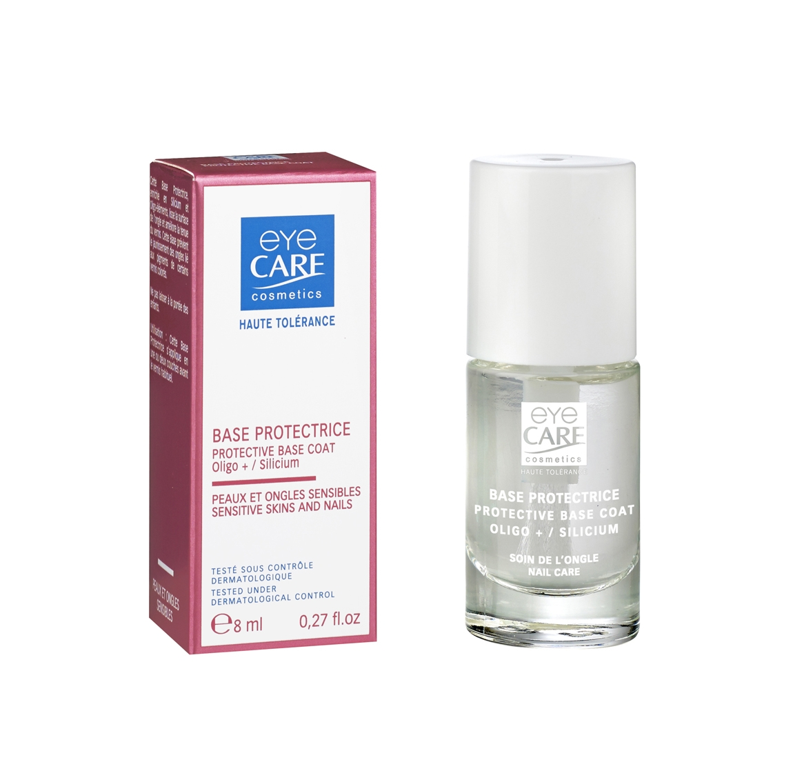 Base protectrice, ongles abimés cancer, Eye Care Cosmetics