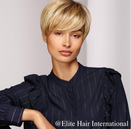 Perruque Ambition, perruque en cheveux courts avec une frange, cheveux de synthèse, Elite Hair International