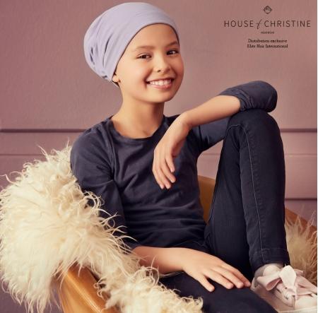 Bonnet chimio bunny, guimauve, christine headwear
