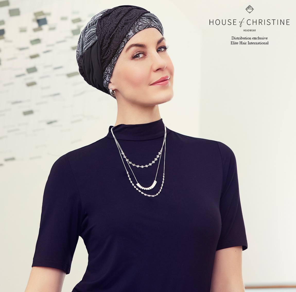 Bonnet chimio, bonnet guna, bambou, vintage, Christine Headwear