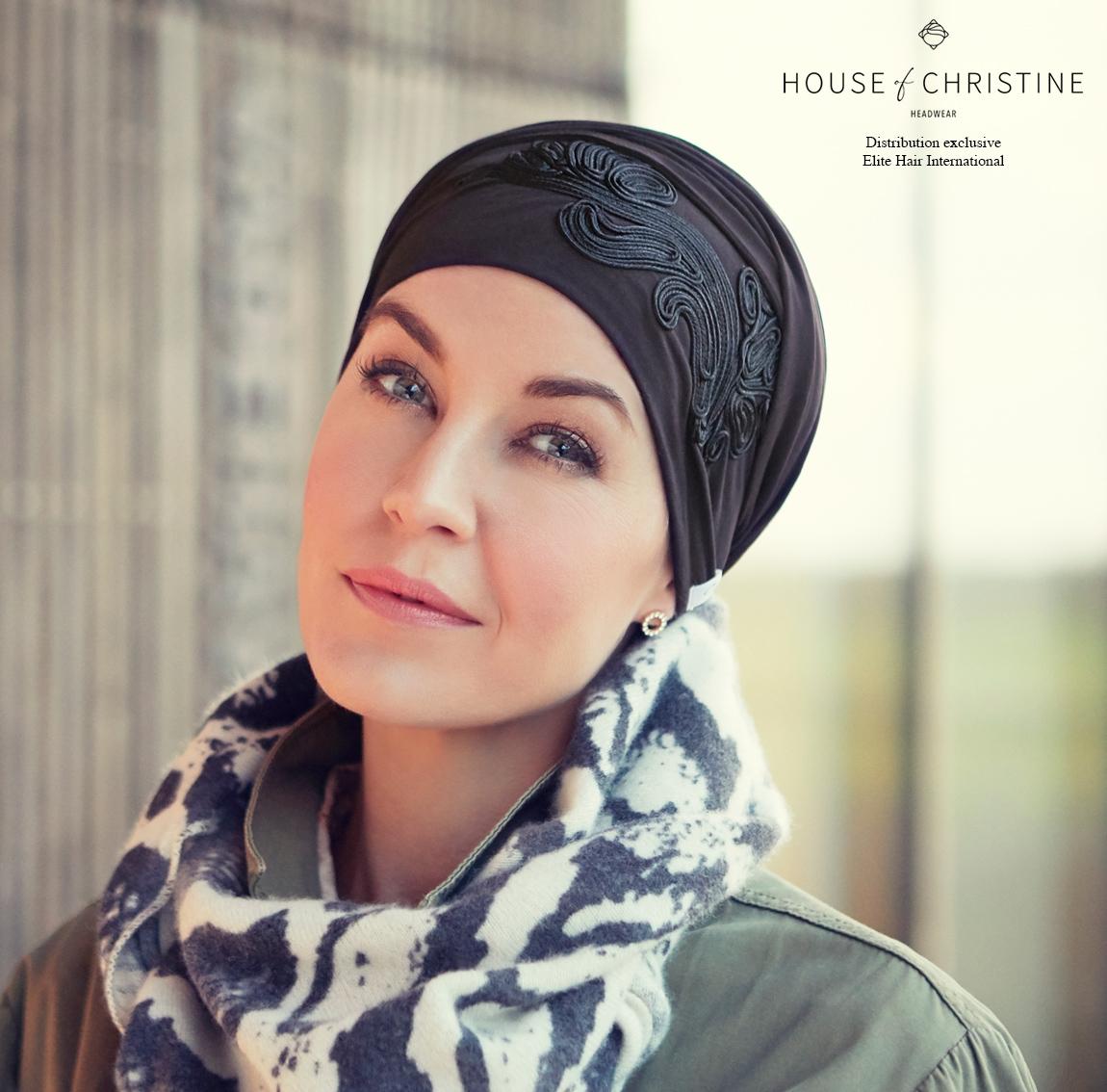 Bonnet chimio shazam, noir, christine headwear