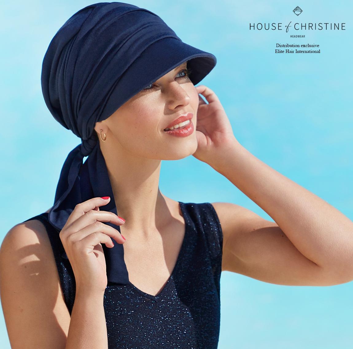 Casquette chimio beatrice, minéral, christine headwear
