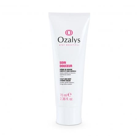 Crème de douche, corps et cuir chevelu, 2 en 1, cosmétique cancer, Ozalys