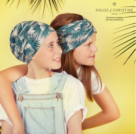 Bonnet et turban chimio pour enfants, Bonnet Petite Tiger, Coconut, Christine Headwear