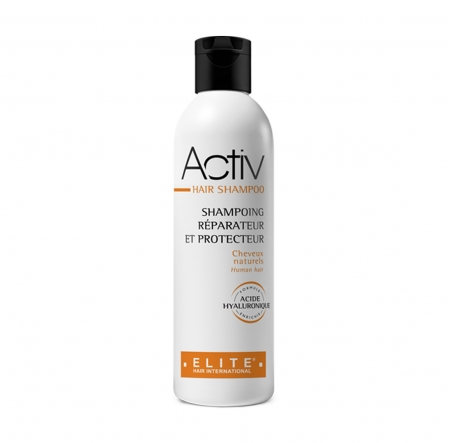 Activ hair shampoo, entretien perruque naturelle, elite hair international