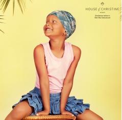 Bonnet chimio pour enfants, Bonnet Petite Tiger Coconut, Christine Headwear