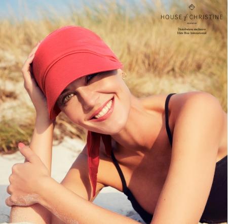 Bandana chimio soft line sun, grenade, christine headwear