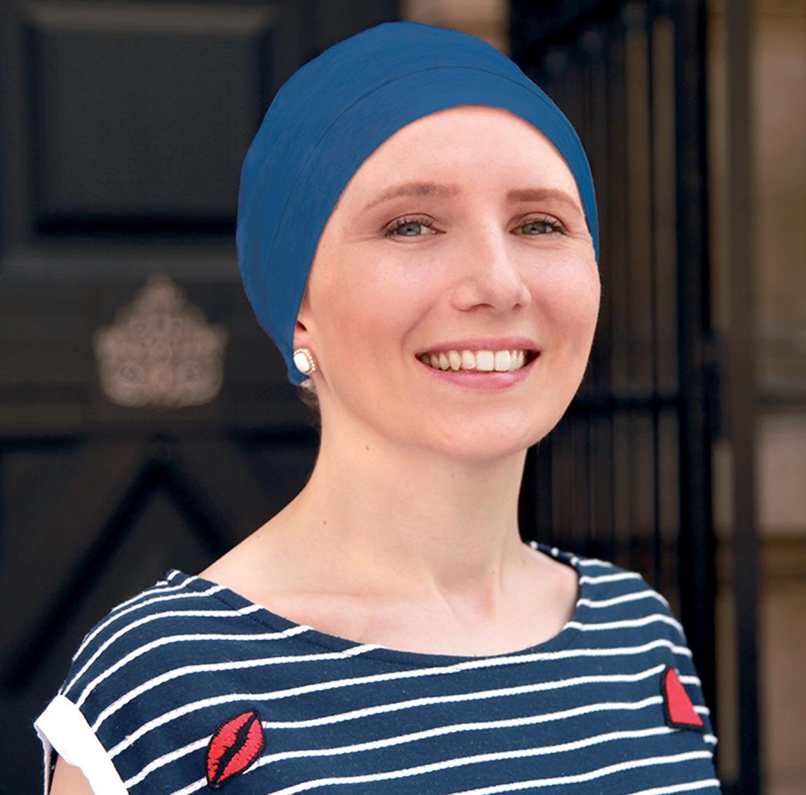 Bonnet chimio, bonnet basic bambou, bleu petrole, elite hair international
