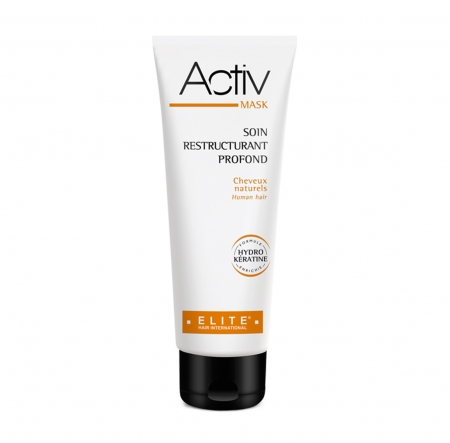 Packaging Activ Mask de la ligne Activ d'Elite Hair International