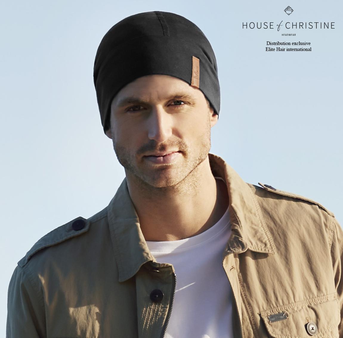 Bonnet chimio, bonnet homme 37.5, onyx, christine headwear