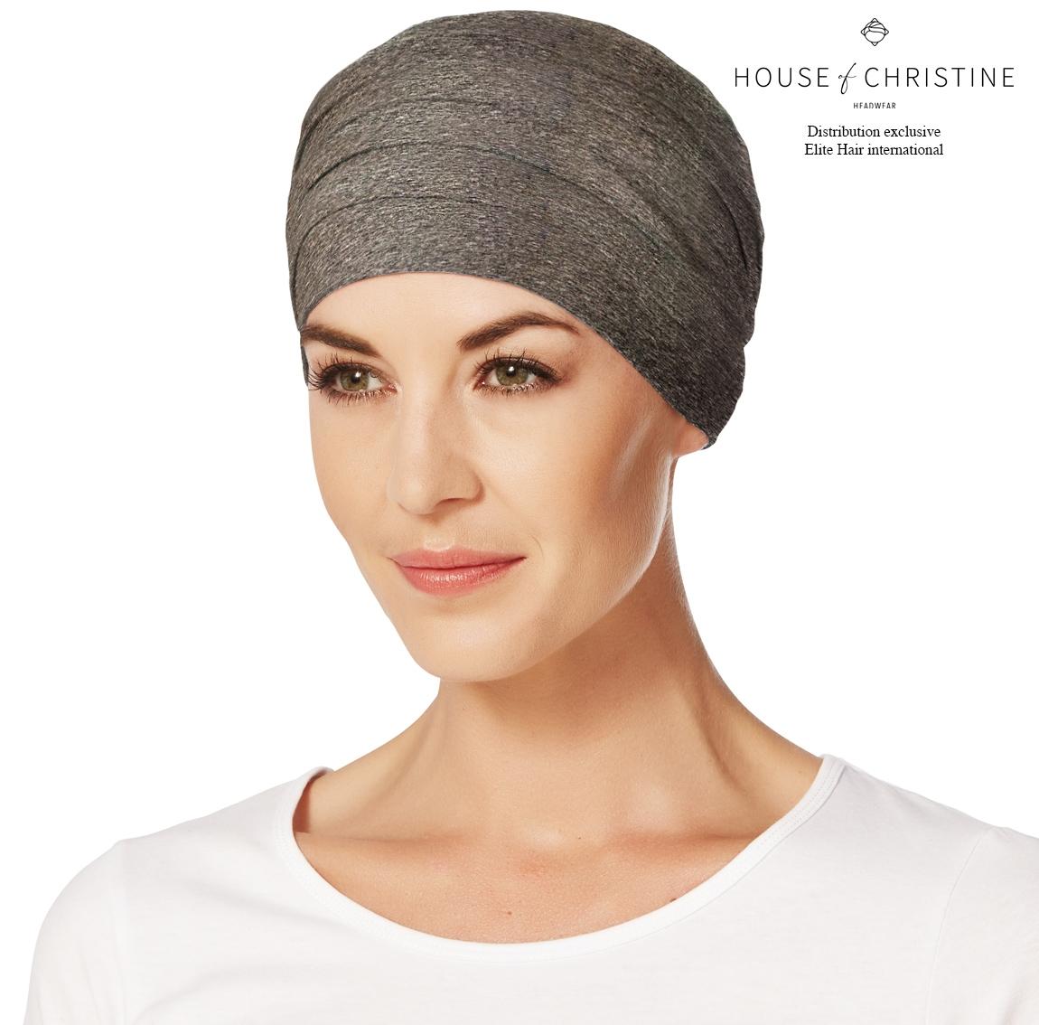 Bonnet chimio, bonnet zen bambou, brownie, Christine Headwear