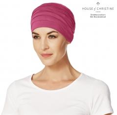 Bonnet chimio, bonnet zen bambou, cerise, Christine Headwear