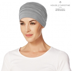 Bonnet chimio, bonnet zen bambou, gris chiné, Christine Headwear