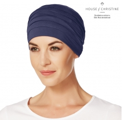 Bonnet chimio, bonnet zen bambou, midnight, Christine Headwear