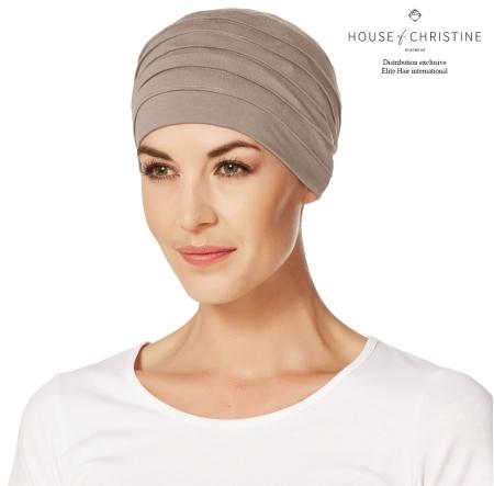 Bonnet chimio, bonnet zen bambou, noisette, Christine Headwear