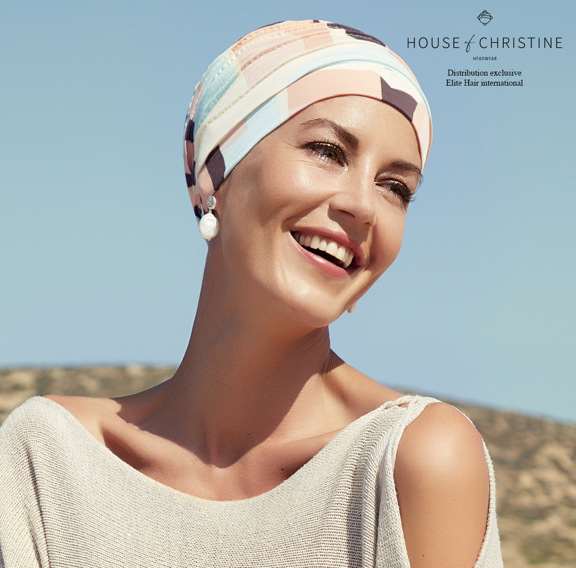 Bonnet chimio, bonnet zen bambou, calypso, Christine Headwear