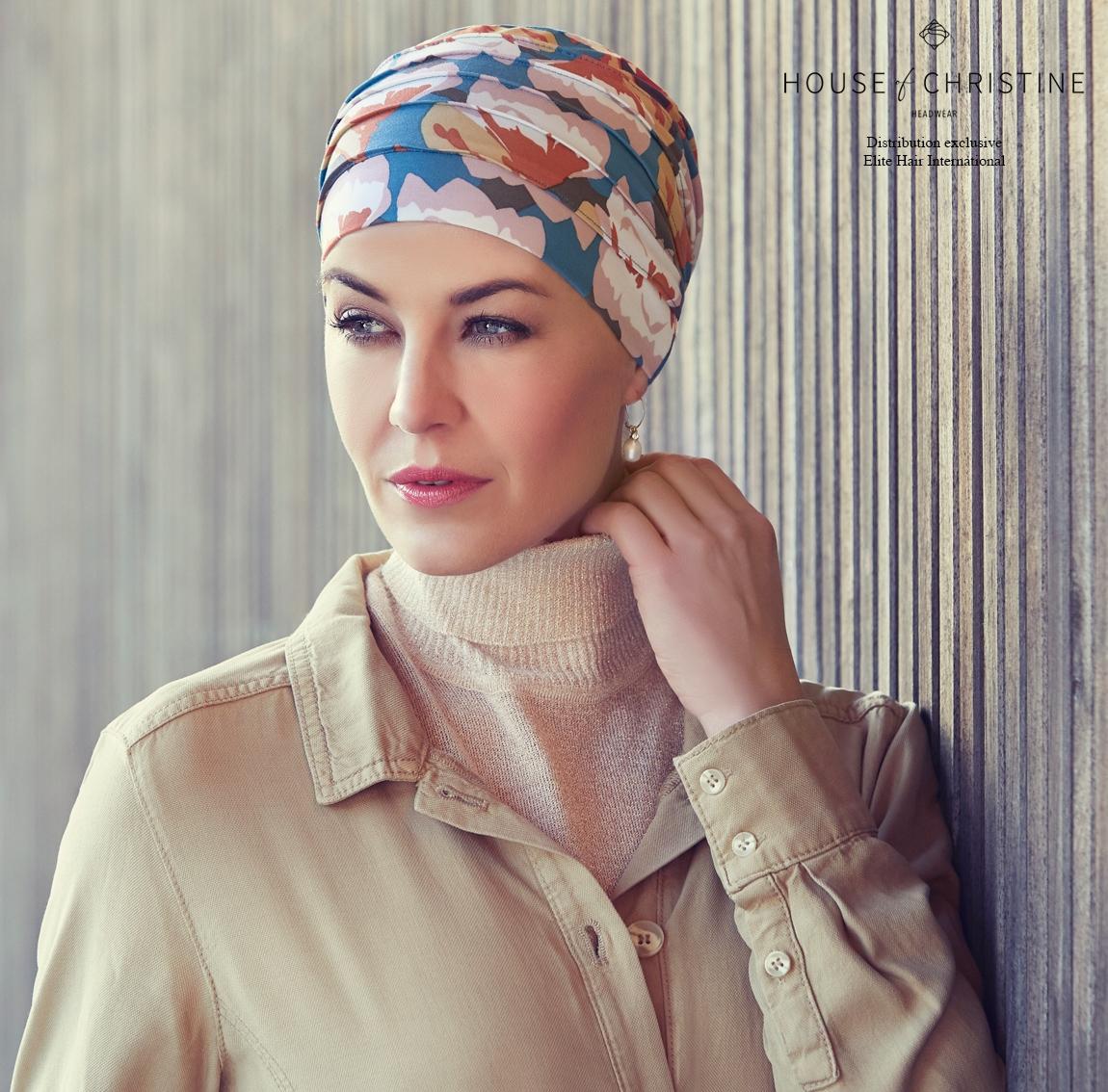 Bonnet chimio, bonnet zen bambou, storia, Christine Headwear