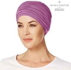 Bonnet chimio, duo karma, amethyste, christine headwear