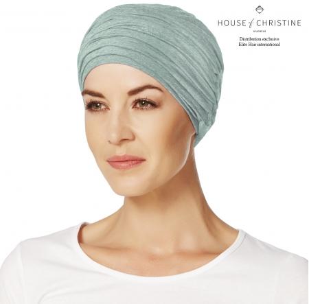 Bonnet chimio, duo karma, rêve bleu, christine headwear