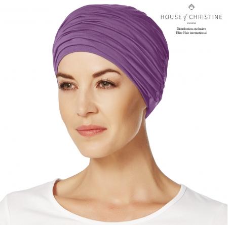 Bonnet chimio, duo karma, violet, christine headwear