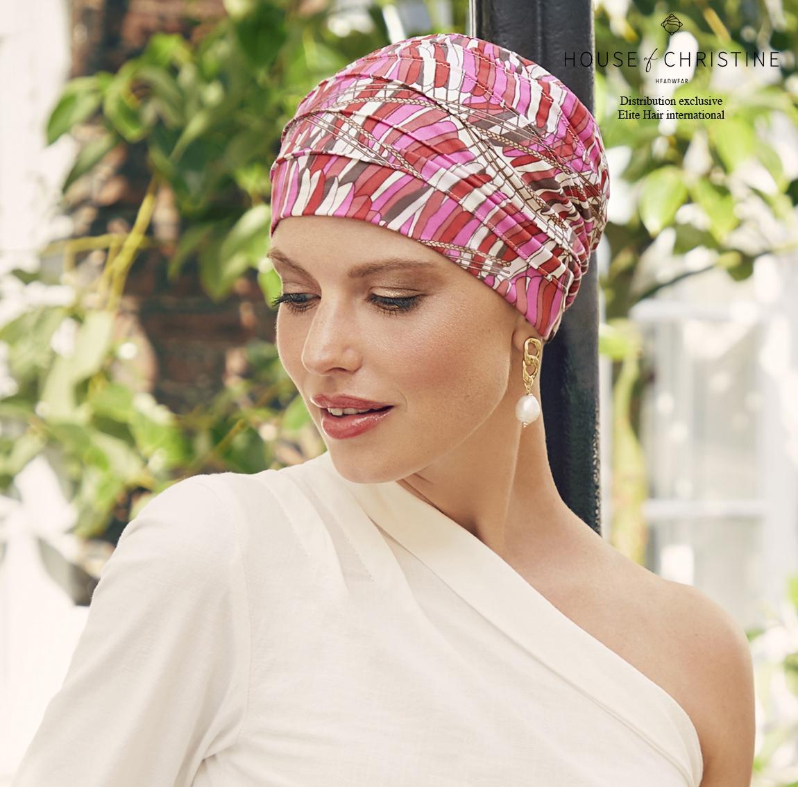 Bonnet chimio, bonnet zen bambou, capri, Christine Headwear