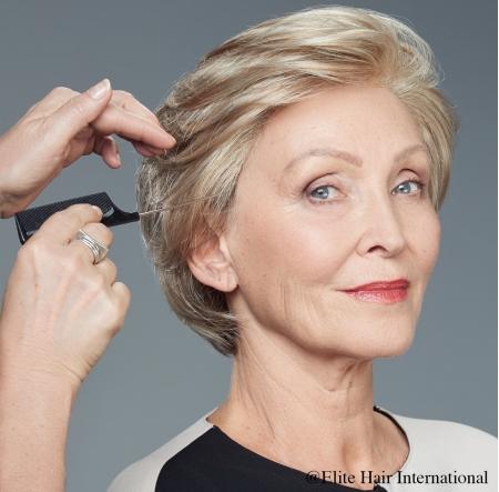 Perruque Audace *****, perruque en cheveux mi-longues avec une mèche, cheveux de synthèse, Elite Hair International