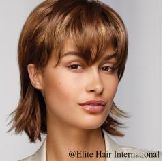 Portrait femme perruque Feeling ***, cheveux synthètiques, elite hair international