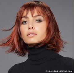 Portrait femme perruque Idéal *****, cheveux synthètiques, elite hair international