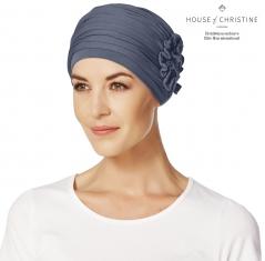 bonnet chimio, bonnet chimio bambou, masquer la perte de cheveux, traitement de chimiothérapie, Bleu Ardoise