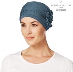 bonnet chimio, bonnet chimio bambou, masquer la perte de cheveux, traitement de chimiothérapie, Bleu Pétrole