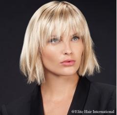 Portrait femme perruque Feeling ***, blonde, cheveux synthètiques, elite hair international
